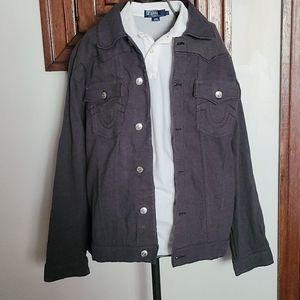 Gray True Religion Jimmy Supert Men's 2XL Jacket